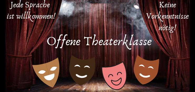 Wir laden Interessierte zum gemeinsamen Theater- und Schauspieltraining ein!